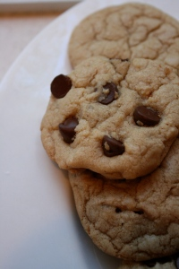 A perfect chocolate chip cookie...