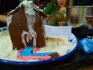 This is your gingerbread house on the recession.